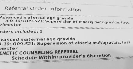 Apparently being pregnant at 35 means I'm of 'advanced maternal age'
